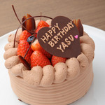 キュベ イトウ - 系列店【パティスリーCafeAstiy】のバースデーケーキ。2日前までのご予約で当店でのお受け取りor店内でのご提供も可能です。