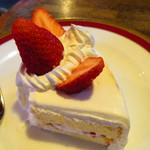 コーヒーハウス とむとむ - いちごのケーキ