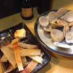 丸八寿司 - エイヒレ、ハマグリ焼き