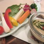 25525346 - 旬野菜スティックバーニャカウダー もろ味噌仕立て