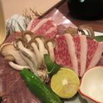 香家 - 神戸牛の水晶プレート焼き