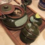 香家 - 蝦夷鮑と木野子の土瓶蒸し