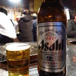 高砂ホルモン - ビール(大瓶)650円