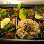 健康食工房 たかの - たかのオリジナル・無添加のマクロビオティックお弁当(発芽玄米か白ごはんを選べる)