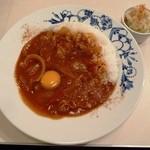 フレイムハウス - 昔懐かしハヤシライス+生卵 650円