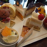 エスタシオン カフェ - ケーキのプレート