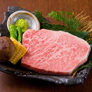 希少部位、神戸牛A5ランクが楽しめる。