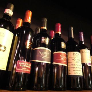 ボトルワインの種類を増やしました!!