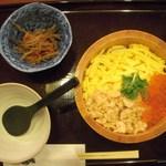 長万部酒場 - 鮭親子おひつ飯(うどん抜き)