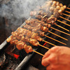 Katsuya - 料理写真:鶏を最高の状態に仕上げる備長炭