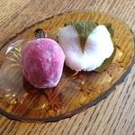 かど丸餅店 - いちご大福 桜餅