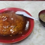 登貴 - 料理写真:天津飯大盛り