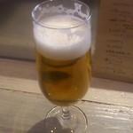 ワインバル サカグチ - 乾杯ビール
