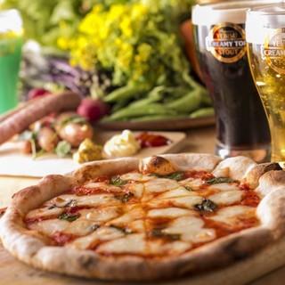 有機野菜を使ったピッツァなど…食材にこだわった絶品料理☆