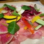 25568533 - パルマ産切り立て生ハムと彩り野菜