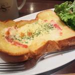 進々堂 - (モーニング)チーズトーストセット¥530→14/4~¥550