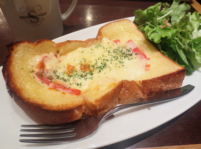 進々堂 ラクエ四条烏丸店 - (モーニング)チーズトーストセット¥530→14/4~¥550
