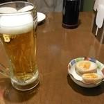 25571006 - うっかり一口飲んだビールとお通しbyアライグマのニコちゃん好き