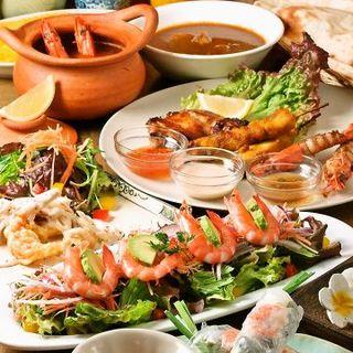 こだわりのアジア多国籍料理と世界のお酒
