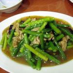 中華鄂菜 楚天 - 炒めにんにく芽(600円)