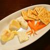 フレッシュの状態で空輸したチーズの盛り合わせ