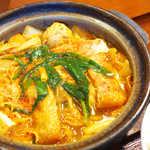 赤から - 赤から鍋は、野菜中心なヘルシーな構成。甘辛い味付けでごはんが止まらない!