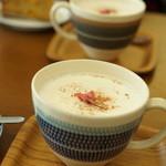つむぐカフェ - 桜の季節限定・サクラオレ
