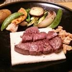 25592494 - ステーキと野菜焼き