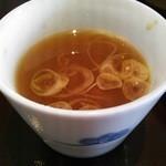 25593263 - そばつゆ蕎麦湯割り。