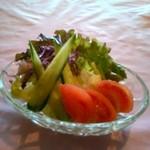 ステーキ 東洋館 - セットのサラダ