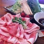 串揚げ ばかたれ家 - 豆乳豚しゃぶ坦々鍋
