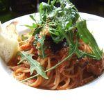 25598287 - 鶏肉と茄子のトマトソーススパゲティ