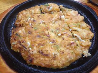 高麗参鶏湯 - 海鮮チヂミ