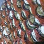 スイスシャレー - ★とある日のランチのガルニチュール 茄子とズッキーニとトマトのオーブン焼き★