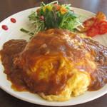 ベイパラ食堂 - 料理写真:本日のワンプレートランチ 650円 オムカレーでした★