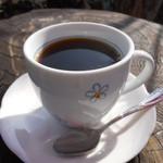 かやぶき茶屋 - 銘水ホットコーヒー