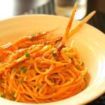 ビストロらあく - 手長エビのスパゲティ。美味しくて見た目も良い。