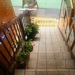 タカナリ - この階段を上がるとお店です