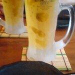 菜の音 - まずは生ビール☆で乾杯!!