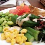 あると - サラダバーの野菜たち