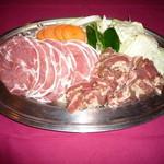 勝沼ワイナリーガーデン - ジンギスカン(2種盛)食べ放題