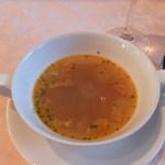 旧三井港倶楽部 - セットのスープ