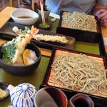 拓朗亭 - ざる蕎麦、ミニ天丼、穴子天ぷら