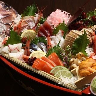 新鮮な魚貝類をご用意しております♪