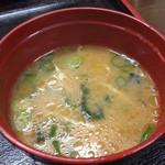 中華そば専門店 広松 - 変わった味の味噌汁