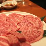 焼肉芝浦 - 鳥取和牛オレイン55のリブロース