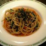 トラットリア・ゴロージィー - オリーブとカブラ菜のスパゲッティ