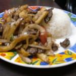 インカ - ロモ サルタード☆牛肉とフライドぽポテトの炒め物
