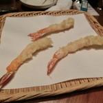 無垢とうや - エビ・・・天ぷらは、揚げたてを出してくれます。