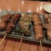 なべさか - 料理写真:左から、つくね、てっぽう、アスパラ、ぼんじり、正肉